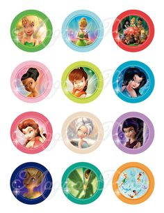 INSTANT DOWNLOAD Tinkerbell Disney fairies 2 Inch by MagicalParty