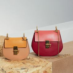 "The Chloé Spring-Summer 2015 Accessories Collection –  ""Drew"" mini and small bags in small grain and nappa leather"