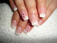 Short French Manicure | gel method and apply french manicure or other nail styling