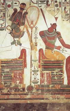 OSIRIS - God of the Death and Resurrection - And ATUM - God of Creation and Father of the Gods - Tomb of Nefertari - Valley of the Queens