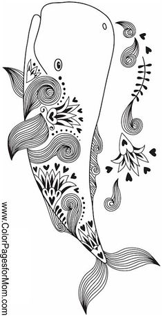 Whale seascape coloring page Make your world more colorful with free printable coloring pages from italks. Our free coloring pages for adults and kids. Ocean Coloring Pages, Animal Coloring Pages, Mandala Coloring, Coloring Book Pages, Coloring For Kids, Printable Coloring Pages, Free Coloring, Mandala Art, Quilled Creations