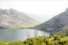 Covadonga lake in Picos de Europa, Asturias Spain