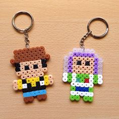 Toy Story keychains hama mini beads by hamarol_