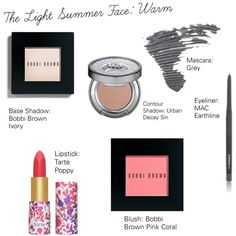 The Light Summer Face: Warm by catelinden on Polyvore featuring beauty, Bobbi…