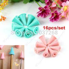 16 pçs/set tricotar agulhas ponto protetores 2 tamanhos para Knitting CraftFree envio atacado / varejo(China (Mainland))