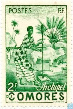 Postage Stamps - Comoros [COM] - Native Woman