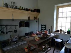 love the cooking fireplace & bake oven in this early kitchen