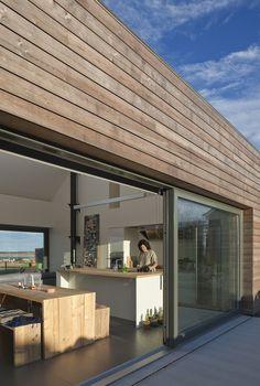 The Shack, Caithness, Sutherland · Siberian Larch Cladding - Kök Ideer Interior Exterior, Interior Design, Larch Cladding, Patio Roof, Tiny House, Facade, House Design, Building, Outdoor Decor