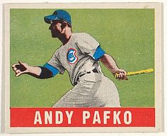 Andy Pafko, Chicago Cubs, from the All-Star Baseball series (R401-1), issued by Leaf Gum Company, 1948-1949, USA