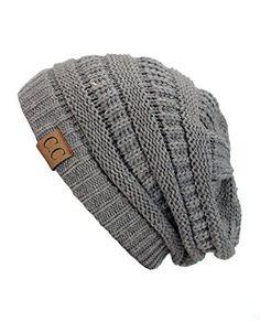 8a4d9d6f2d1 Baggy Slouchy Beanie Skull Cap Winter Hat for Men Women - C - C31860M0KUZ  in 2019