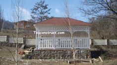 Foisoare rustice 04 Gazebo, Outdoor Structures, Cabin, House Styles, Home Decor, Kiosk, Decoration Home, Room Decor, Pavilion