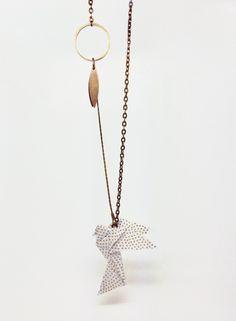 collier KOTORI origami : Collier par noshi