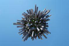 Stock Illustration : City planet