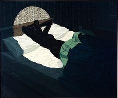 Kerry James Marshall, Nude (Spotlight), acrylic on pvc, 61 1/8 x 72 7/8 inches, 2009.