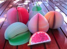 3D Fruit Paper Memo Pad