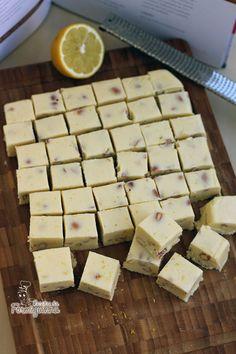 Fudge de Limão Siciliano e Amêndoas