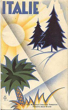 "Travel booklet ""Italie,"" 1932. Signed ""Retrosi."" Designed by ""Novissima - Roma."" via flickr"