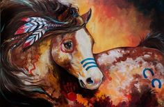 Indian War Horse | TOBIANO INDIAN WAR HORSE - by Marcia Baldwin from Animals