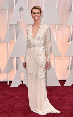 Faith Hill in J. Mendel at the 2015 Oscars