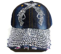 3dff3674c4b We supply washed womens rhinestone denim baseball hats