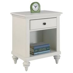 Bring timeless appeal to your master suite or guest room with this charming 1-drawer nightstand, featuring an open bottom storage compartment and a brushed w...