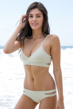 L*Space Swim - Chloe Wrap Top | Mint | The Girl and The Water