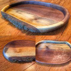 Live edge black walnut bowl. www.woodenknightwoodworking.com