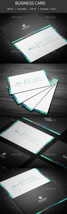 Creative Business Corporate Etsy Cards Cleaning Card Design Inspiration