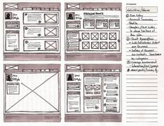A WIREFRAME is an outline of a website. It is the first step of the creation of a site. Good web designers start out with a wireframe sketch in order to visualize their ideas on paper. Tips for. Simple Web Design, Web Design Tips, App Design, Wireframe Mockup, Wireframe Design, Mobile Wireframe, Mobile Ui, Nascar, User Experience Design