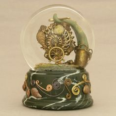 Steampunk Snow Globes, at your service