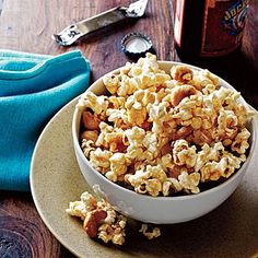 Spicy Maple-Cashew Popcorn  - Lose the butter and salt to make popcorn a belly-flattening whole grain snack that's sure to satisfy.