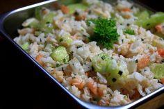 Recette de Salade de riz rose et verte : la recette facile
