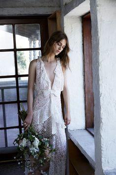 Sweet Disposition Maxi Dress, [$424](https://shop.forloveandlemons.com/collections/bridal-2017-capsule/products/sweet-disposition-maxi-dress-ivory-floral)