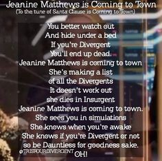 Jeanine Matthews is coming to town. By @trisfourdivergent on Instagram