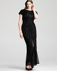 Tadashi Shoji Plus size Sequin Gown