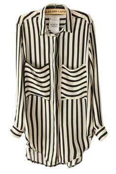 nothing is better than an oversized blouse. stripes both ways. Oasap #currentlyobsessed