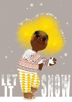 Let it snow - Illustration Marie-Rose Boisson