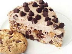 Only five ingredients needed for this delicious no bake Chocolate Chip Cookie Icebox Cake! No Bake Desserts, Easy Desserts, Dessert Recipes, Fun Recipes, Drink Recipes, Delicious Chocolate, Vegetarian Chocolate, Chocolate Chips, Chocolate Chip Cookies
