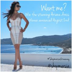 """""""Want Me?"""" giveaway! Enter in to win the stunning and sexy 'Ariana' bandage dress!!   Go to Facebook.com/shopmarsia OR Instagram.com/shopmarsia for more information!!  #ootd #ootn #shopmarsia #newboutique #shopping #style #trending #streetstyle #glam #sexy #igfashion #fashion #fashionista #fashionblogger #fashiondiaries #fashionaddict #fashionpost #dresses #love #instagood #like #cute #photooftheday #girl #beautiful #nice #look #aboutalook #hudabeauty #mymodamobstyle"""