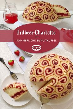 Strawberry Charlotte-Erdbeer-Charlotte Strawberry Charlotte: A creamy dessert with strawberries for Mother& Day or other celebrations - Charlotte Dessert, Soup Appetizers, Appetizer Recipes, Strawberry Desserts, Eclairs, Food Cakes, Cookie Recipes, Delicious Desserts, Bakery