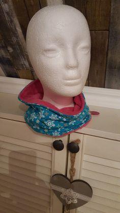 Schlauchschals - Schlupfschal, Halssocke, Eiscristalle, ganz weich - ein Designerstück von GuteUte bei DaWanda