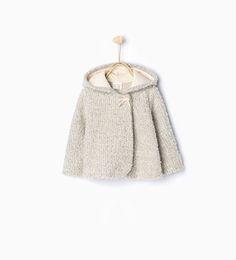 ZARA - KIDS - Three quarter length hooded coat with ears