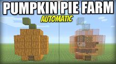 Minecraft PS4 - AUTOMATIC PUMPKIN PIE FARM - Tutorial - PE / Xbox / PS3 / Wii U - YouTube