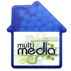 Translucent Blue house shaped mints - less than $1 per piece. #business #promotionalgifts Branded Gifts, Corporate Gifts, Promotion, Branding, Shapes, Marketing, Business, House, Home Decor