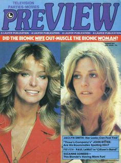 Magazine photos featuring Farrah Fawcett on the cover. Farrah Fawcett magazine cover photos, back issues and newstand editions. List Of Magazines, Vintage Magazines, John Ritter, 1970s Tv Shows, 60s Tv, Suzanne Somers, Bionic Woman, Three's Company, Farrah Fawcett