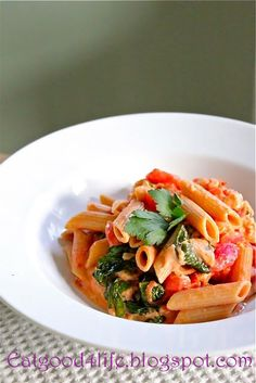 Eat Good 4 Life » Pasta with Creamy tomato sauce and spinach