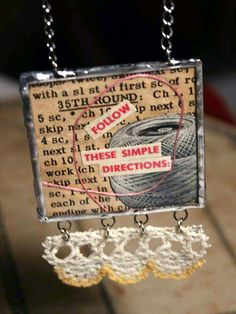 solder and crochet lace