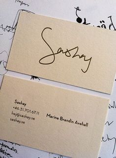 Sashay, businesscard. (naming, logo, branding, graphics, interior design)