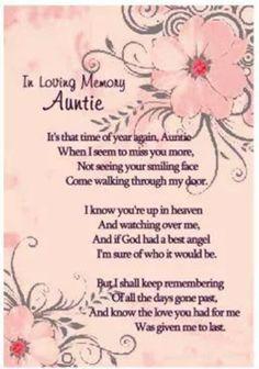 My aunt in heaven.