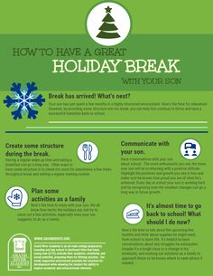 Have a great holiday break with your son!